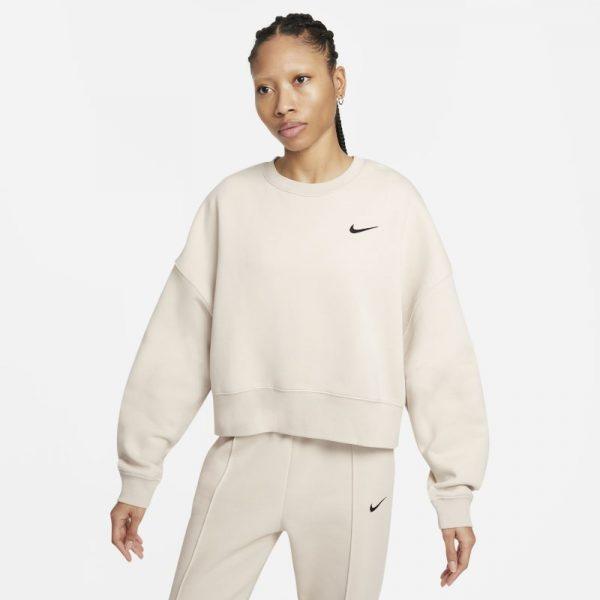 Nike Sportswear Women's Fleece Crop Top - Grey
