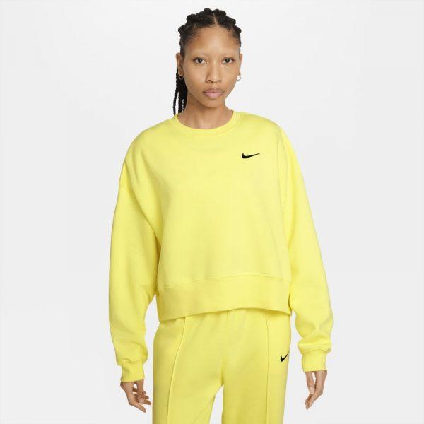 Nike Sportswear Women's Fleece Crop Top - Yellow