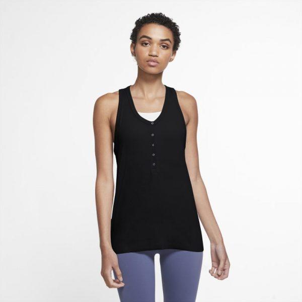 Nike Yoga Women's Henley Tank - Black