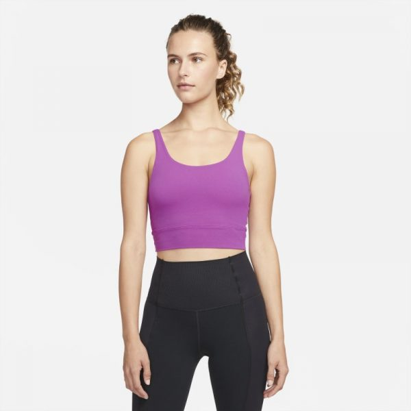 Nike Yoga Luxe Women's Infinalon Crop Top - Purple