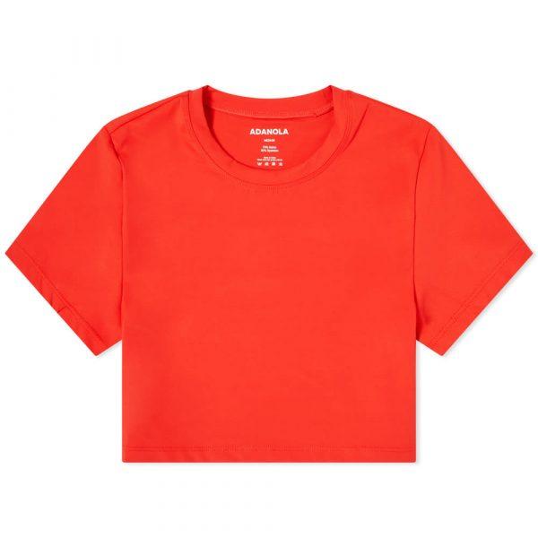 Adanola Short Sleeve Crop Top
